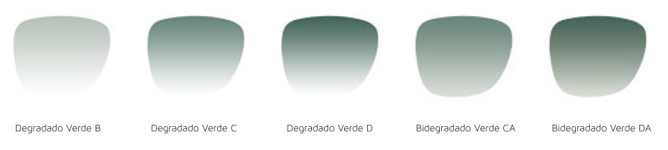verdes degradadso