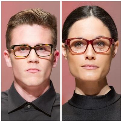 gafas redondeadas y cuadradas